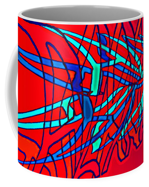 C2 Coffee Mug featuring the digital art The Risc Of Alcohol by Helmut Rottler