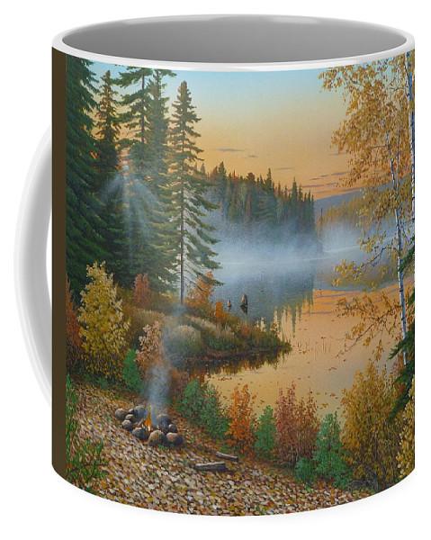 Jake Vandenbrink Coffee Mug featuring the painting The Rising Sun by Jake Vandenbrink