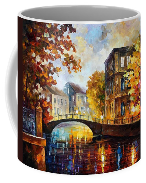 Afremov Coffee Mug featuring the painting The River Of Memories by Leonid Afremov