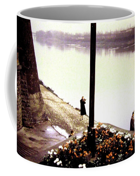 1955 Coffee Mug featuring the photograph The River Seine 1955 by Will Borden