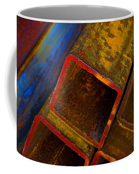 Abstract Coffee Mug featuring the photograph The River by Skip Hunt