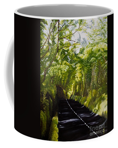 Landscape Coffee Mug featuring the painting The Road Through Glenastar by Pauline Sharp