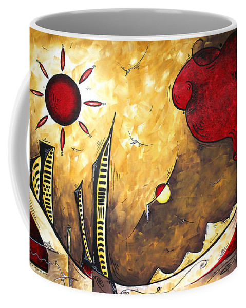 Art Coffee Mug featuring the painting The Road To Life Original Madart Painting by Megan Duncanson
