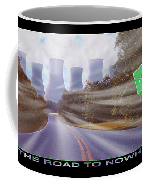 Surrealism Coffee Mug featuring the photograph The Road To Nowhere by Mike McGlothlen