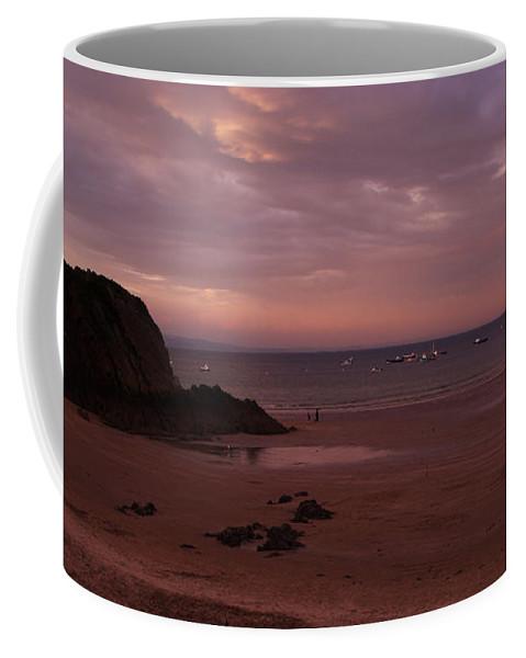 Pembrokeshire Coffee Mug featuring the photograph The Rock And Th Sea by Angel Ciesniarska