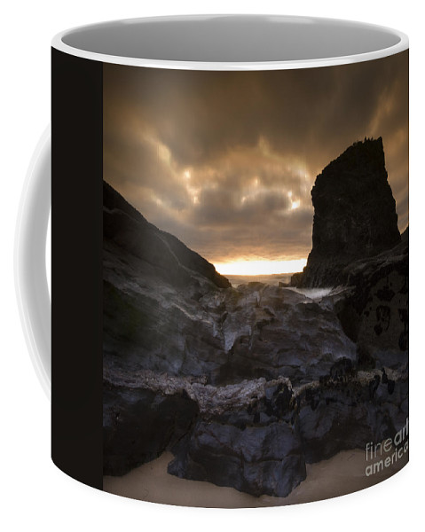 Bedruthan Steps Coffee Mug featuring the photograph The Rocks by Angel Tarantella