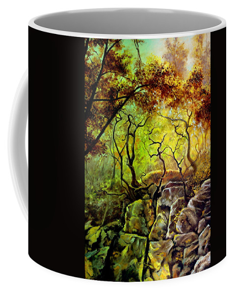 Henryk Coffee Mug featuring the painting The Rocks In Starachowice by Henryk Gorecki