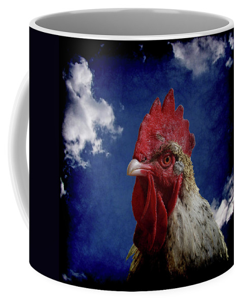 Rooster Coffee Mug featuring the photograph The Rooster by Ernie Echols