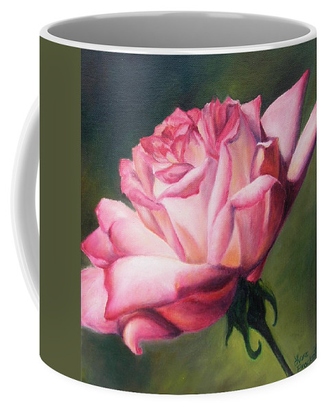 Nature Coffee Mug featuring the painting The Rose by Lori Brackett