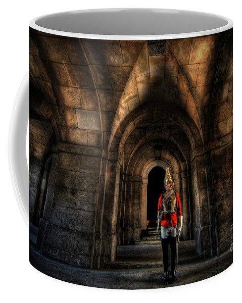 London Coffee Mug featuring the photograph The Royal Horse Guard  by Yhun Suarez