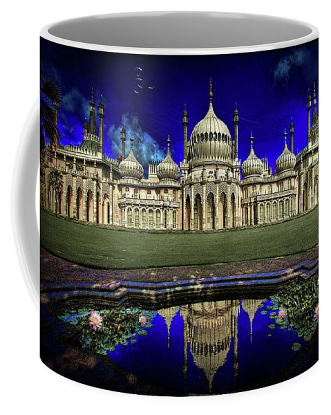 Hdr Coffee Mug featuring the photograph The Royal Pavilion At Sunrise by Chris Lord