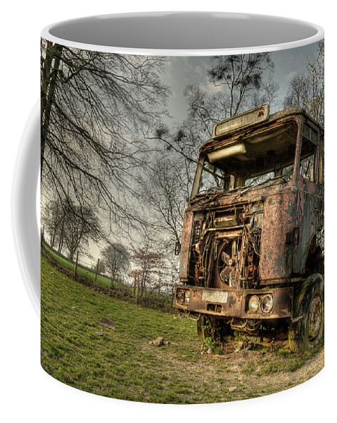 Truck Coffee Mug featuring the photograph The Rusting Rig by Rob Hawkins