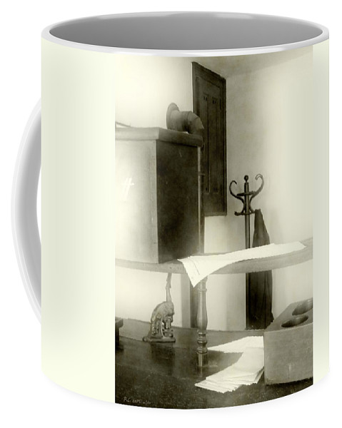 Antiques Coffee Mug featuring the photograph The Safe In The Wall by RC deWinter
