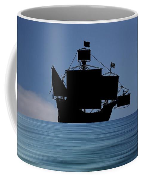 The Santa Maria Coffee Mug featuring the photograph The Santa Maria 1460 V4 by Smart Aviation