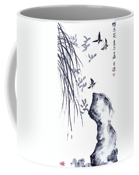 White Coffee Mug featuring the painting The Scent Of Spring by Birgit Moldenhauer