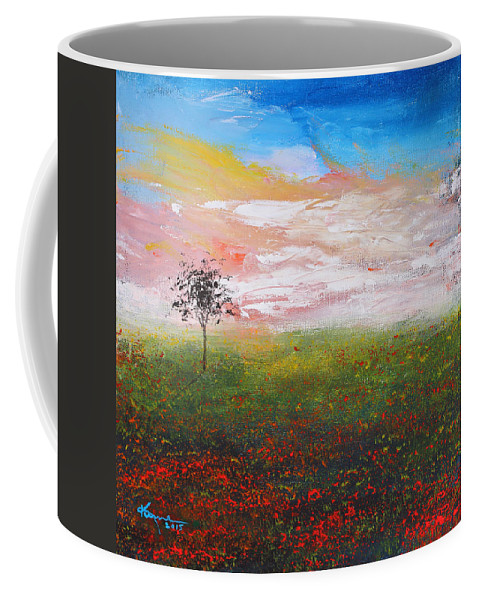 The Scented Sky Coffee Mug featuring the painting The Scented Sky by Kume Bryant