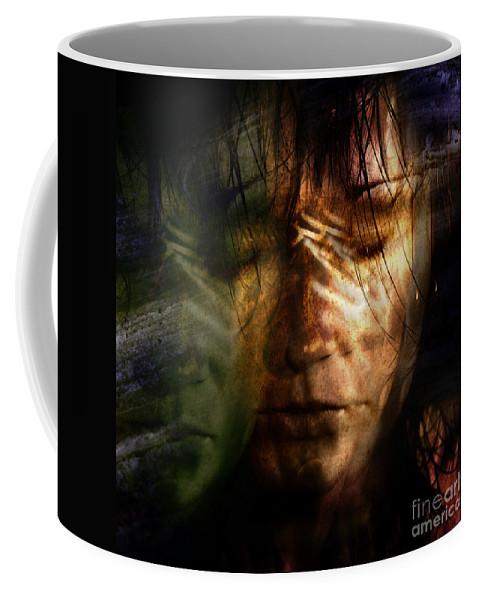 Face Coffee Mug featuring the photograph The Schizophrenia by Angel Tarantella