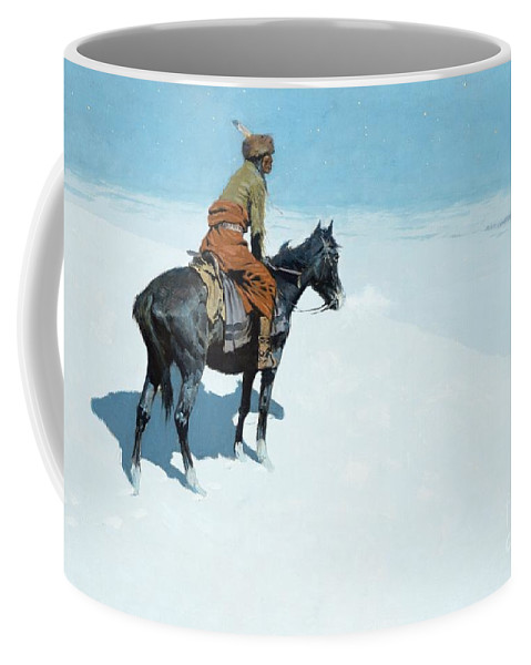 The Scout Coffee Mug featuring the painting The Scout Friends Or Foes by Frederic Remington