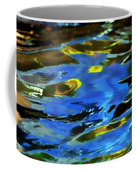 Abstract Water Coffee Mug featuring the photograph The Scream by Donna Blackhall