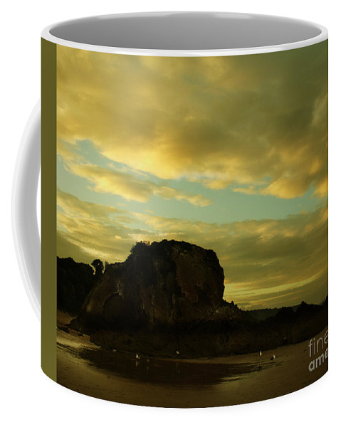 Pembrokeshire Coffee Mug featuring the photograph The Sea And The Rock by Angel Tarantella