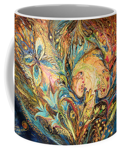 Original Coffee Mug featuring the painting The Sea Soul by Elena Kotliarker