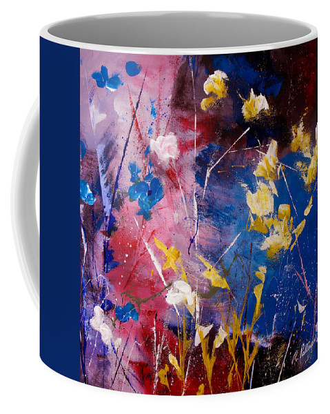 Acrylic Coffee Mug featuring the painting The Season Of Singing Has Come by Ruth Palmer