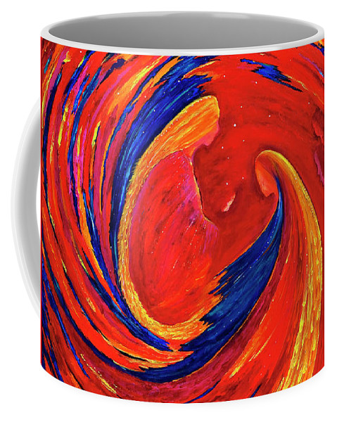 Divine Coffee Mug featuring the painting The Secret by Lily Nava