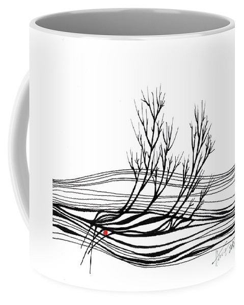 Trees Coffee Mug featuring the drawing The Seed by Aniko Hencz