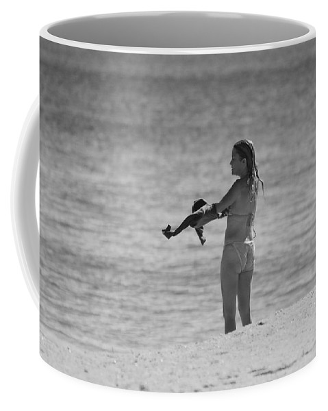 Black And White Coffee Mug featuring the photograph The Shirt by Rob Hans
