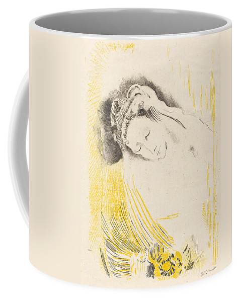 Odilon Redon Coffee Mug featuring the painting The Shulamite by Odilon Redon