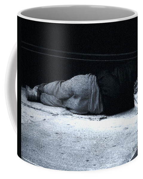 Homeless Coffee Mug featuring the photograph The Sidewalks Of New York by RC deWinter