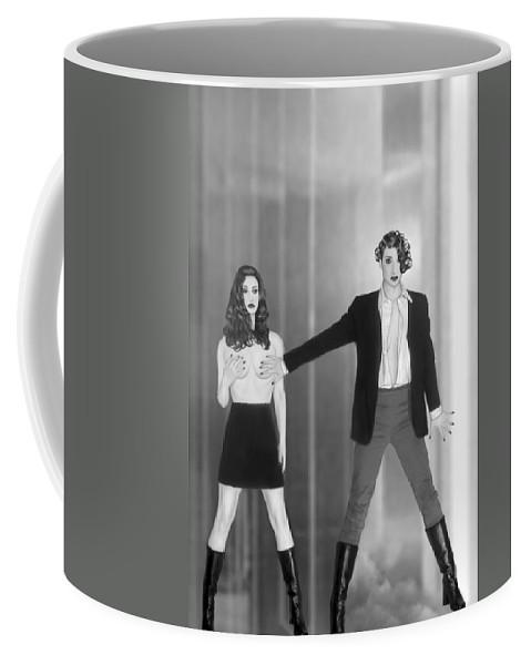Feminine Coffee Mug featuring the photograph The Silent Dare - Self Portrait by Jaeda DeWalt