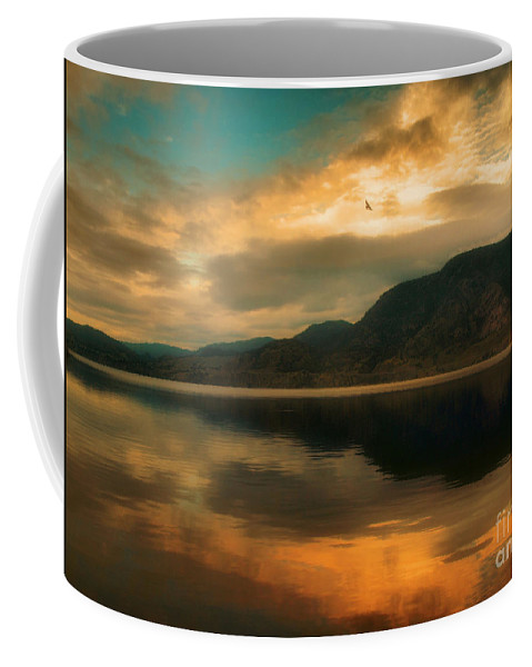 Skaha Coffee Mug featuring the photograph The Skaha Sunrise by Tara Turner