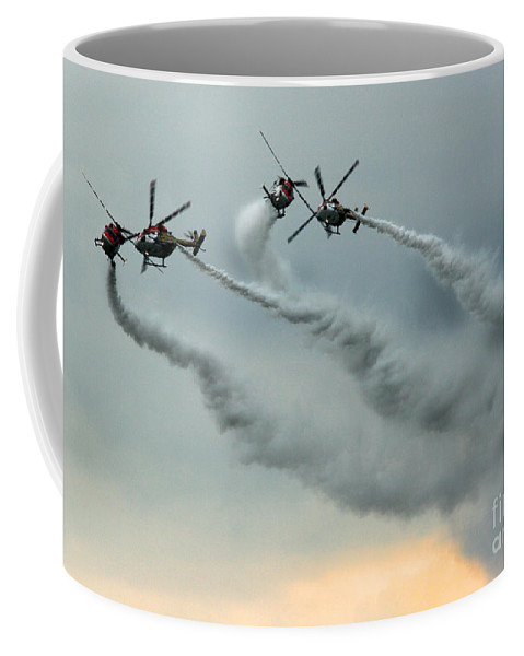 Indische Luftwaffe Coffee Mug featuring the photograph The Sky Ballet by Angel Ciesniarska