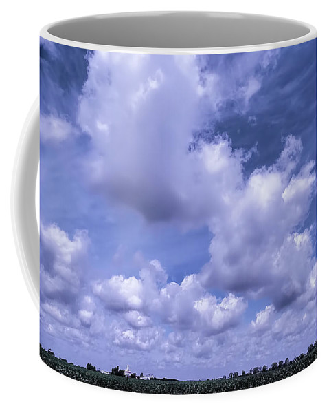 Coffee Mug featuring the digital art The Sky Is The Limit by Theresa Campbell