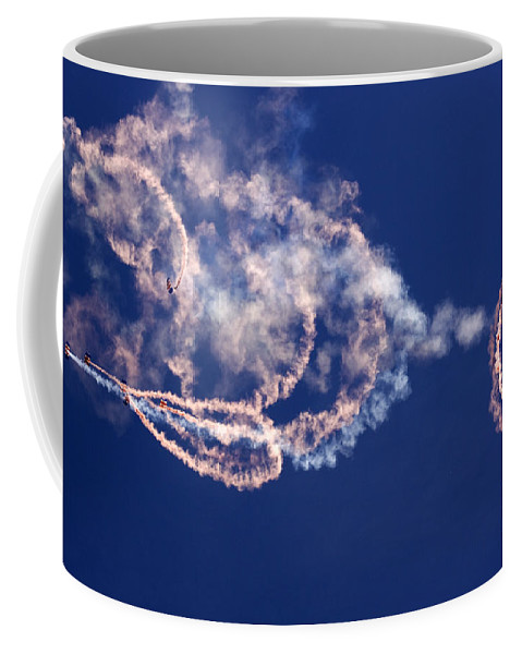 Raf Falcons Coffee Mug featuring the photograph The Sky Watercolor by Angel Ciesniarska