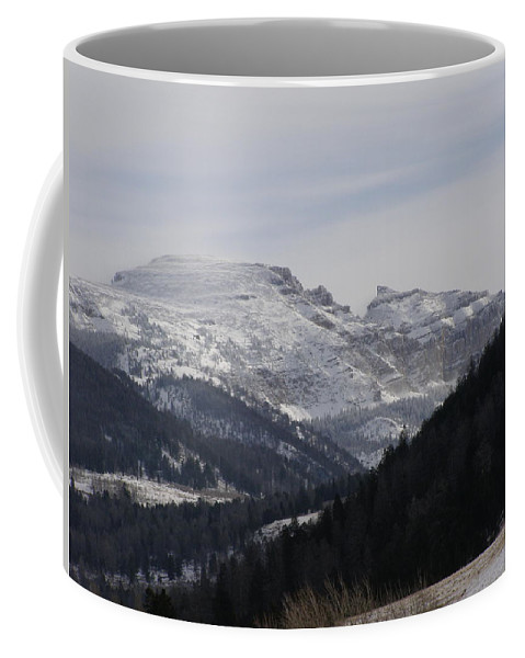 Mountian Coffee Mug featuring the photograph The Sleeping Indian by DeeLon Merritt