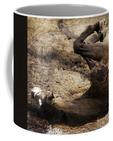 Horse Coffee Mug featuring the photograph The Smell Of The Soil by Angel Ciesniarska