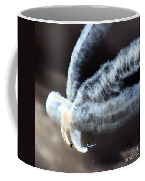 Blades Extra 300 Coffee Mug featuring the photograph The Smokers by Angel Ciesniarska
