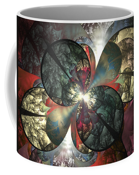 Fractal Coffee Mug featuring the digital art The Soft Touch by Amorina Ashton