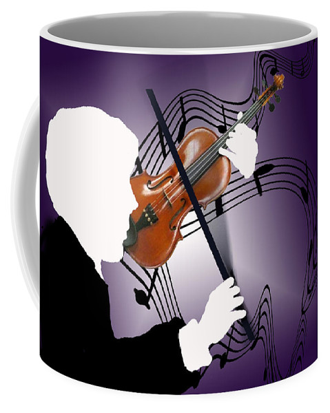 Violin Coffee Mug featuring the digital art The Soloist by Steve Karol