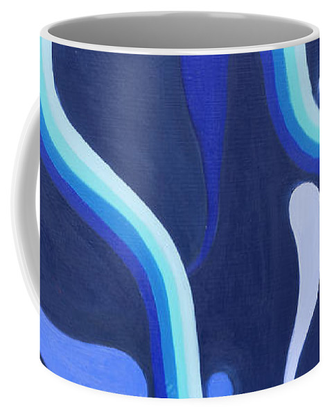 The Souls Of Water Coffee Mug featuring the painting The Souls Of Water by Adamantini Feng shui