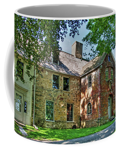 John Spencer Nathaniel Tracy Edward H. Little National Historic Landmark Colonial First Period Coffee Mug featuring the photograph The Spencer-peirce-little House In Spring by Wayne Marshall Chase