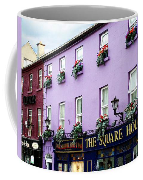 Irish Coffee Mug featuring the photograph The Square House Athlone Ireland by Teresa Mucha
