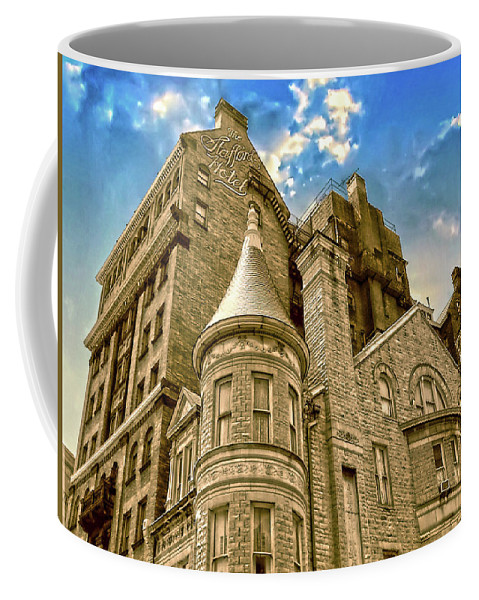 2d Coffee Mug featuring the photograph The Stafford Hotel by Brian Wallace