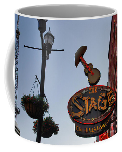 Nashville Coffee Mug featuring the photograph The Stage Nashville by Susanne Van Hulst