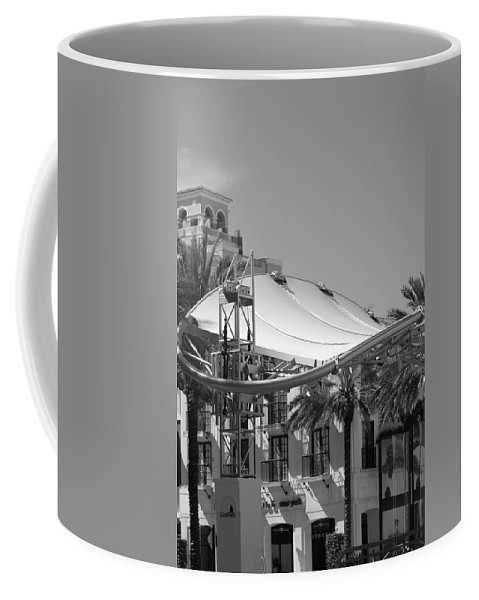 Black And White Coffee Mug featuring the photograph The Stage by Rob Hans