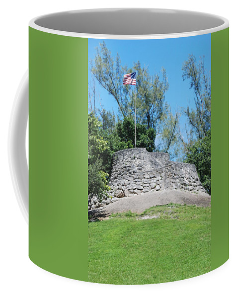 American Flag Coffee Mug featuring the photograph The Stand by Rob Hans
