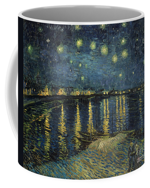 The Coffee Mug featuring the painting The Starry Night by Vincent Van Gogh