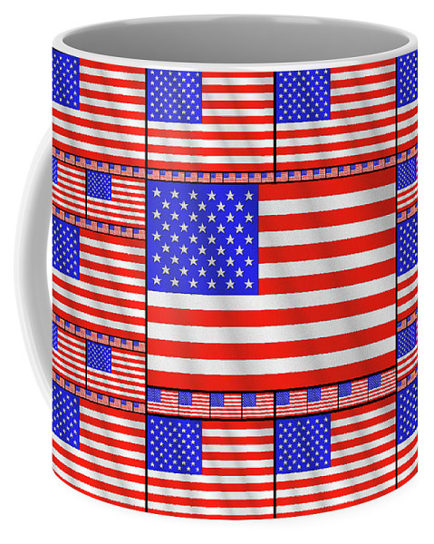 America Coffee Mug featuring the digital art The Stars And Stripes 2 by Mike McGlothlen